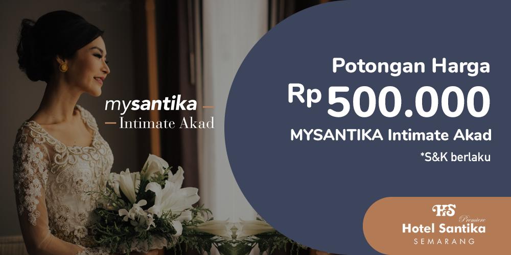 Gambar promo Potongan Harga Rp500.000 MYSANTIKA Intimate Akad dari Santika