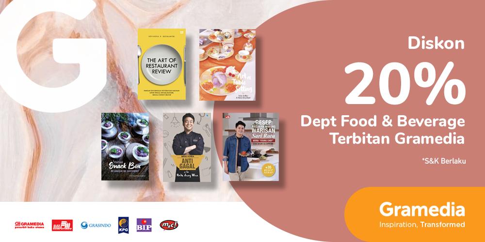 Gambar promo Diskon 20% Buku Food & Beverage Terbitan Gramedia dari Gramedia
