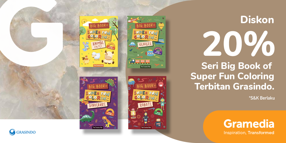 Gambar promo Diskon 20% Buku Seri Big Book of Super Fun Coloring dari Gramedia