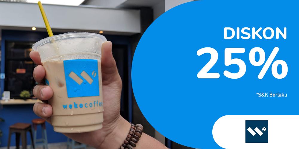 Gambar promo Diskon 25% Weko Coffee Semua Menu dari