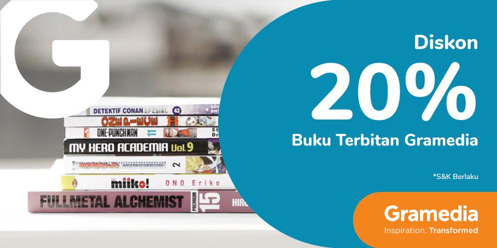 Gambar promo Diskon 20% Buku Terbitan Gramedia dari Gramedia
