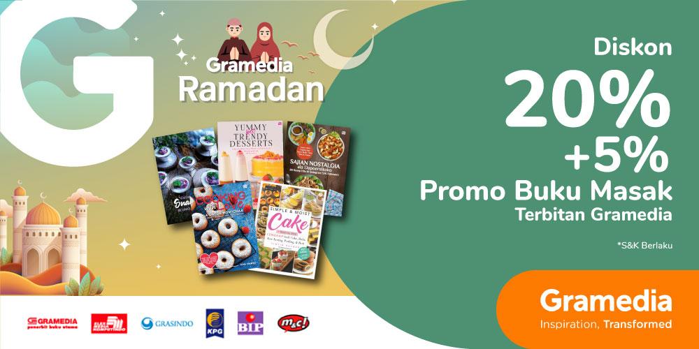 Gambar promo Diskon 20% + 5% Buku Masak Terbitan Gramedia dari Gramedia