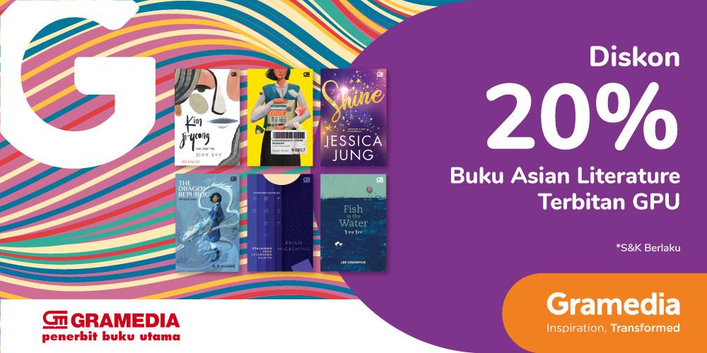 Gambar promo Diskon 20% Buku Asian Literature dari Gramedia