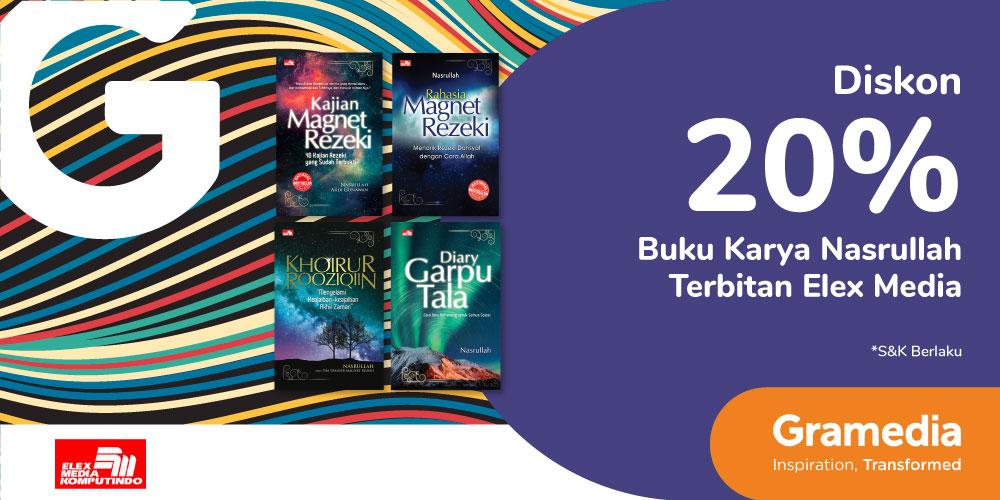 Gambar promo Diskon 20% Buku Karya Nasrullah dari Gramedia