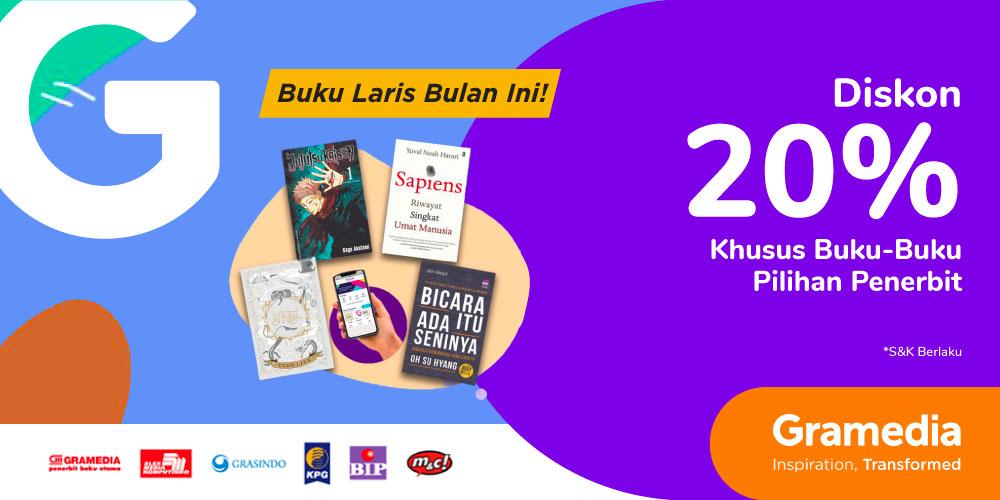 Gambar promo Diskon 20% Khusus Buku Laris di Bulan Juni dari Gramedia