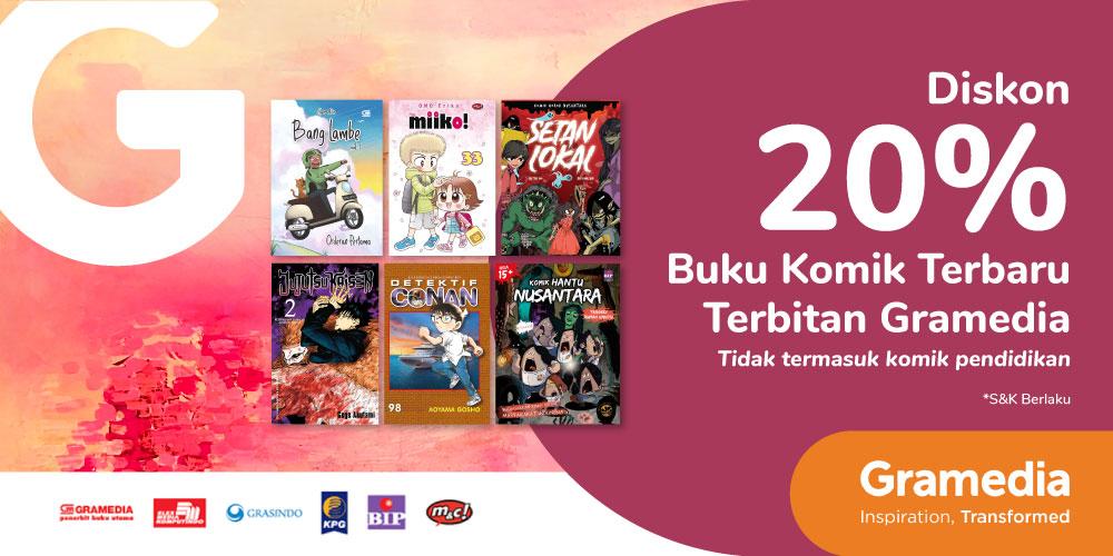 Gambar promo Diskon 20% Buku Komik Terbitan Gramedia dari Gramedia