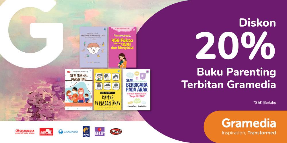 Gambar promo Diskon 20% Buku Parenting Terbitan Gramedia dari Gramedia