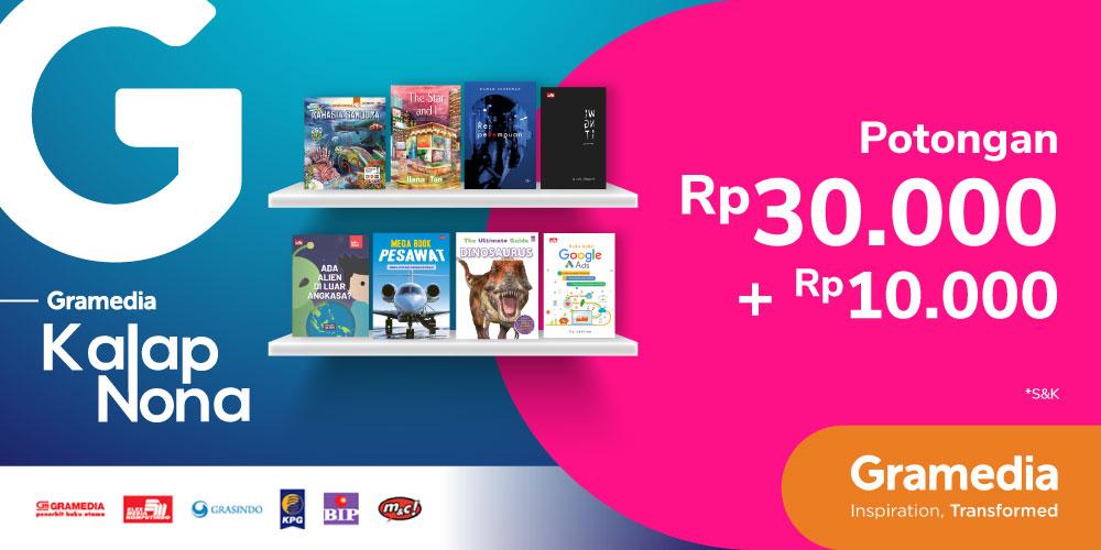 Gambar promo Potongan Rp30.000 + Rp10.000 Buku Novel & Anak Terbitan Gramedia dari Gramedia
